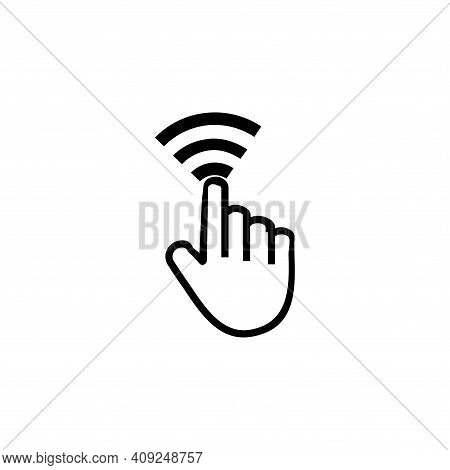 Hand Cursor Icon Vector. Hand Cursor Icon Isolated On White And Background. Hand Cursor Icon Simple