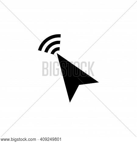 Cursor Icon Vector. Cursor Icon Vector Isolated On White Background. Cursor Simple And Modern.