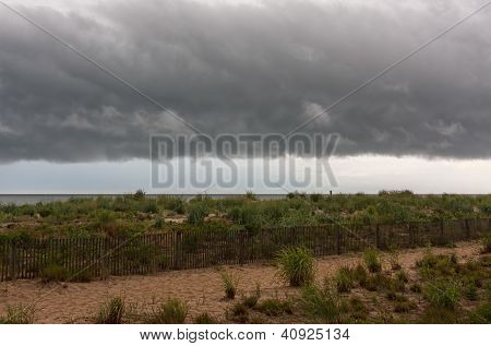 Shelf Cloud Over Beach