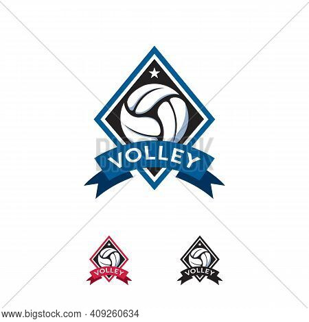 Volleyball Sport Logo Designs Badge Vector Template, Professional Isolated Sports Badge Logo