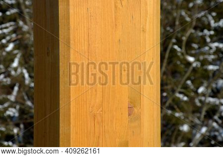 The Use Of High-strength Beams Glued From Several Pieces Of Spruce Wood Does Not Twist And Is Suitab