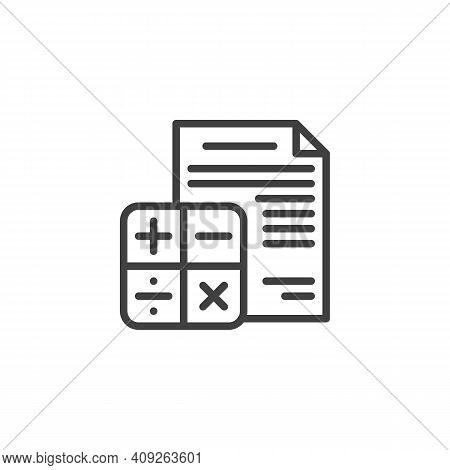 Financial Accounting Report Line Icon. Linear Style Sign For Mobile Concept And Web Design. Financia