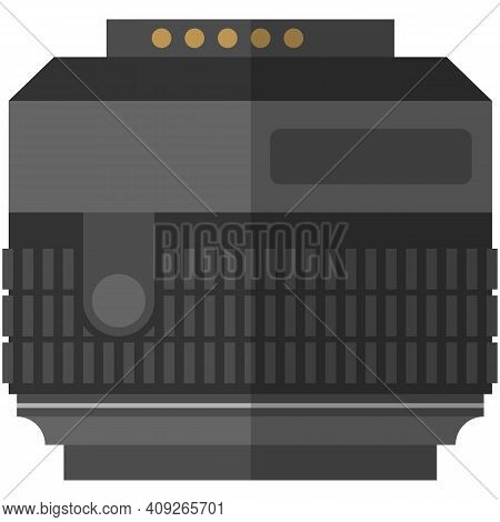 Professional Camera Wide Angle Lense Isolated Vector