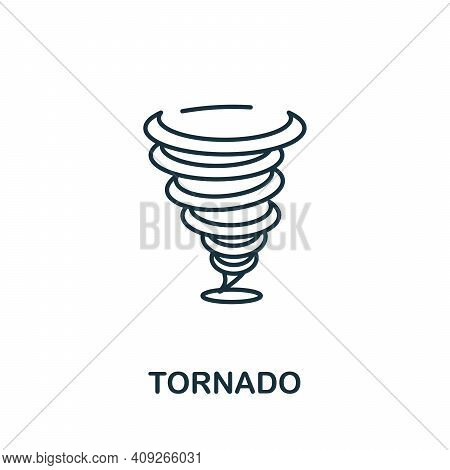 Tornado Icon. Simple Element From Natural Disaster Collection. Creative Tornado Icon For Web Design,