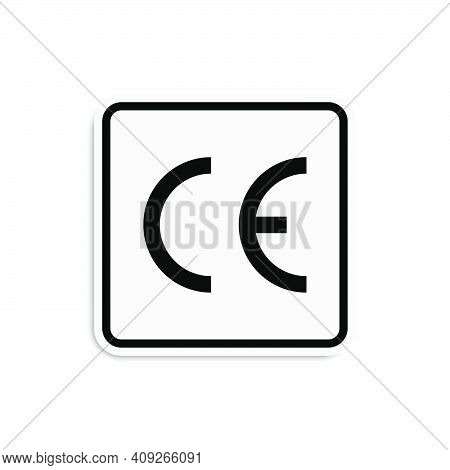 Product Packaging Symbol Ce. Vector Illustration Eps10
