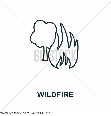 Wildfire Icon. Simple Element From Natural Disaster Collection. Creative Wildfire Icon For Web Desig