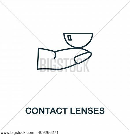Contact Lenses Icon. Simple Illustration From Ophthalmology Collection. Creative Contact Lenses Icon