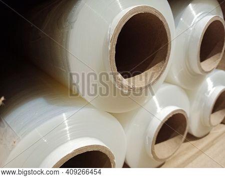 Stretch Film In Rolls. Wrapping Film In Rolls.