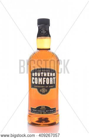 IRVINE, CALIFORNIA - JANUARY 13, 2017: Southern Comfort. First produced in 1874 at McCauley's Tavern in the French Quarter of New Orleans, Louisiana.