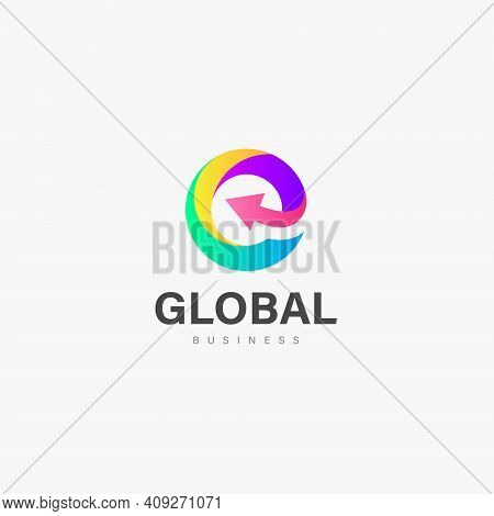 Global Business Logo Icon Vector Design, Global Icon