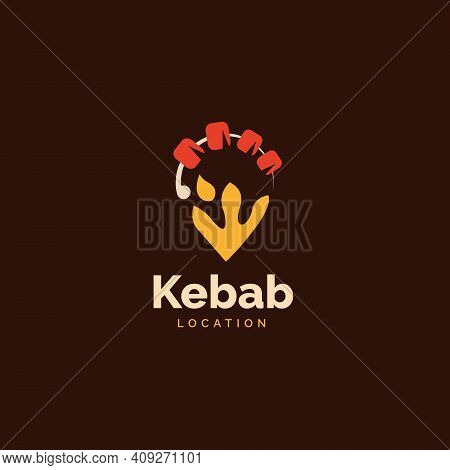 Kebab Logo Icon Design Concept, Restaurant Logo Icon