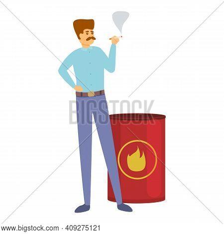 Careless Smoking Person Icon. Cartoon Of Careless Smoking Person Vector Icon For Web Design Isolated