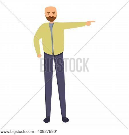 Dislike Sad Man Icon. Cartoon Of Dislike Sad Man Vector Icon For Web Design Isolated On White Backgr