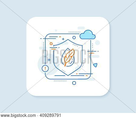 Hypoallergenic Tested Line Icon. Abstract Vector Button. Feather Sign. No Synthetic Symbol. Hypoalle