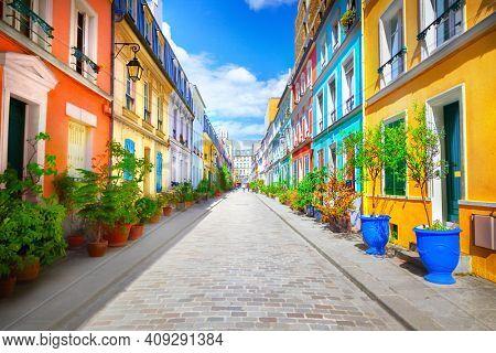 Cremieux Street (Rue Cremieux), Paris, France.