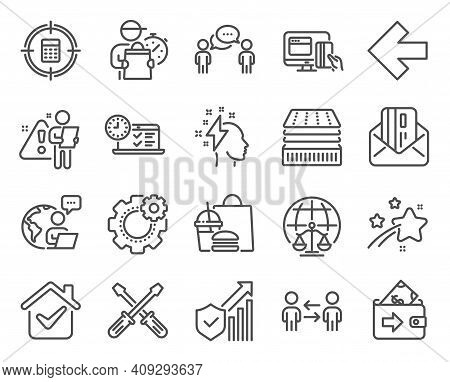 Business Icons Set. Included Icon As Magistrates Court, Consulting Business, Wallet Signs. Brainstor
