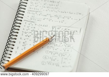 Math Formulas Are Written In Pencil On A Piece Of Paper, Math Pr