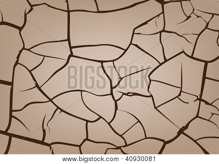 Cracked ground Background, Vector Texture