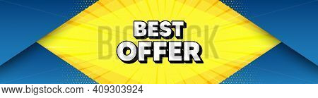 Best Offer. Modern Background With Offer Message. Special Price Sale Sign. Advertising Discounts Sym