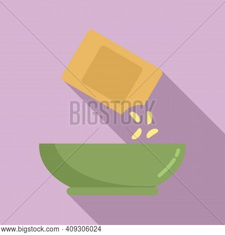 Grain Cereal Flakes Icon. Flat Illustration Of Grain Cereal Flakes Vector Icon For Web Design