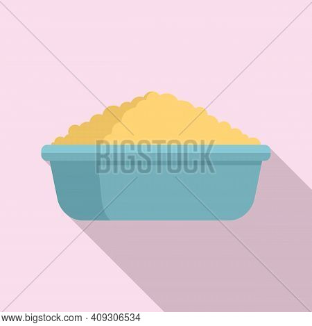 Cereal Flakes Protein Icon. Flat Illustration Of Cereal Flakes Protein Vector Icon For Web Design
