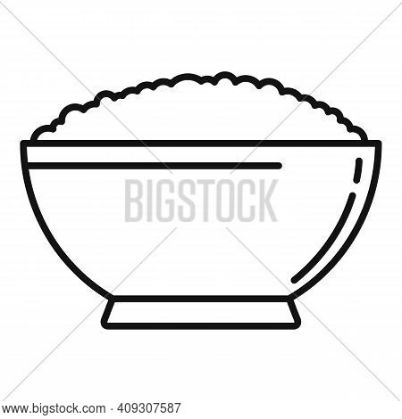 Cereal Flakes Snack Icon. Outline Cereal Flakes Snack Vector Icon For Web Design Isolated On White B