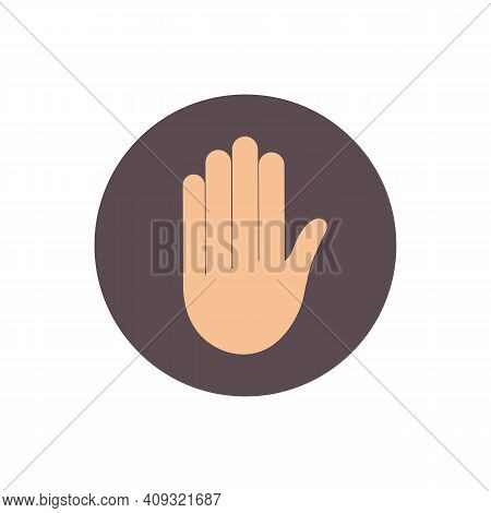 Hand Raised Icon. Sign Vector Illustration Graphic Design