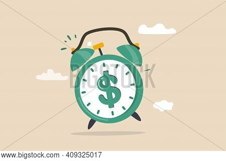 Time For Money, Making Profit From Investment, Promotion Alert For Bargain Deal, Bill Payment Or Dea