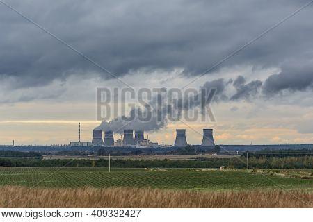 Rivne Nuclear Power Plant, Varash, Rivne Oblast, Ukraine. Production Of Electric And Thermal Energy.