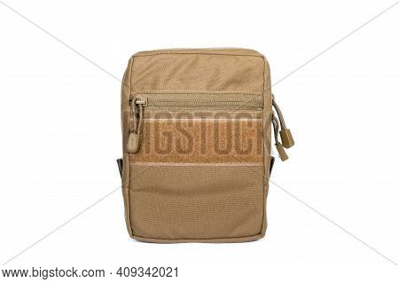 Multifunctional Tactical Weekender Convertible Outdoor Travel Canvas Backpack Isolated On White. Mod