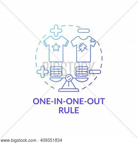 One-in-one-out Rule Blue Gradient Concept Icon. One Thing Replacing Another Idea Thin Line Illustrat