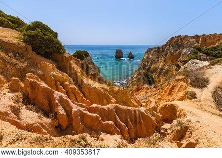 Beach near Lagos - Algarve region in Portugal