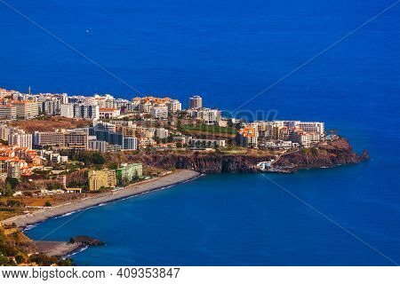 Town Funchal in Madeira Portugal - travel background
