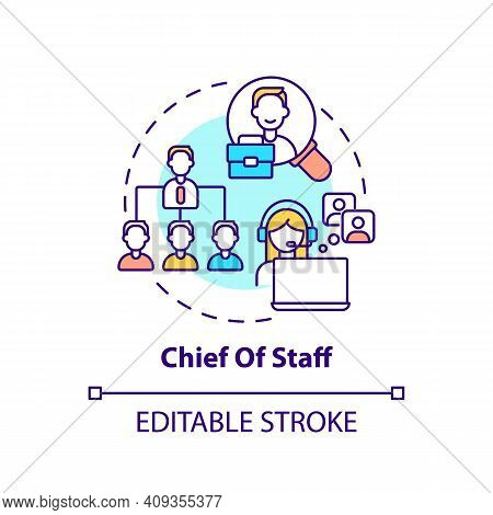 Chief Of Staff Concept Icon. Company Top Management Jobs. Advisor To Chief Executive. Business Idea
