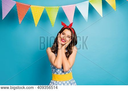 Portrait Of Her She Nice Attractive Lovely Pretty Winsome Lovable Glamorous Cheerful Cheery Girl Enj