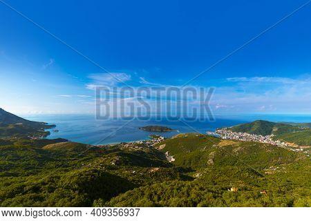Budva coastline - Montenegro - nature travel background