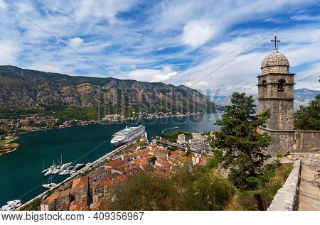 Kotor Bay and Old Town - Montenegro - nature and architecture background