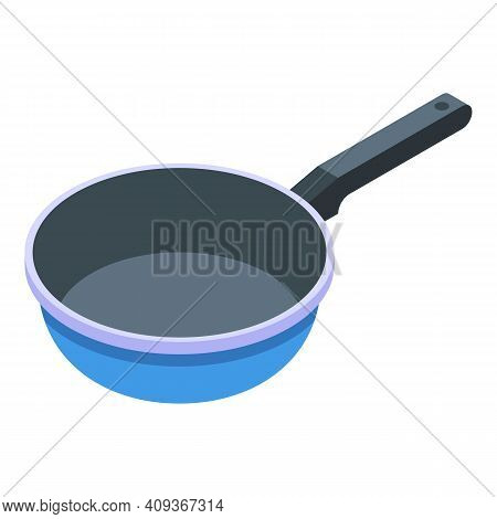 Wok Pan Icon. Isometric Of Wok Pan Vector Icon For Web Design Isolated On White Background