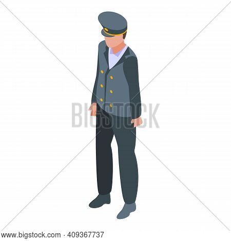 Plane Pilot Icon. Isometric Of Plane Pilot Vector Icon For Web Design Isolated On White Background