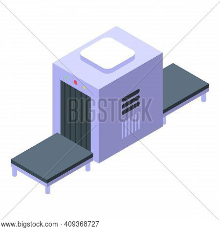Baggage Control Icon. Isometric Of Baggage Control Vector Icon For Web Design Isolated On White Back