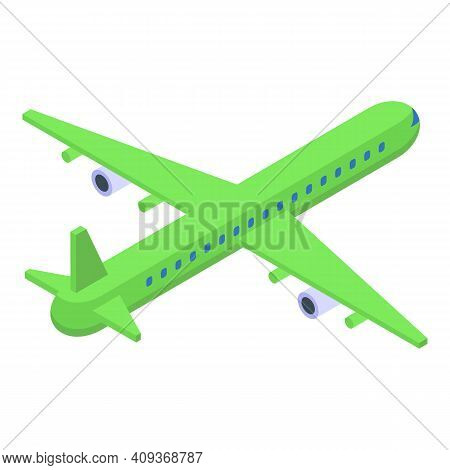 Aircraft Icon. Isometric Of Aircraft Vector Icon For Web Design Isolated On White Background