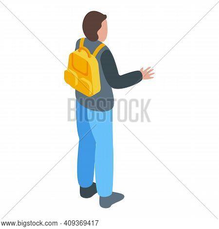 Boy Passenger Icon. Isometric Of Boy Passenger Vector Icon For Web Design Isolated On White Backgrou