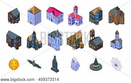 Creepy House Icon. Isometric Of Creepy House Vector Icon For Web Design Isolated On White Background
