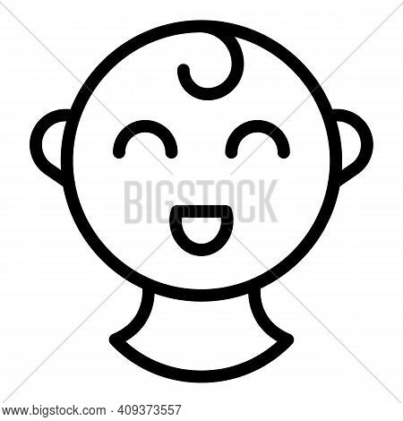 Little Child Icon. Outline Little Child Vector Icon For Web Design Isolated On White Background