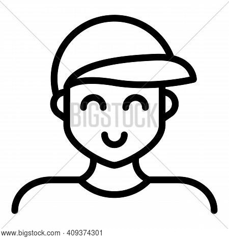 Grandson Icon. Outline Grandson Vector Icon For Web Design Isolated On White Background