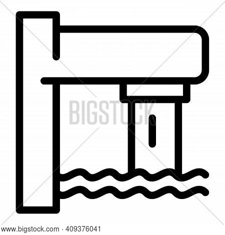 Tap Water Pool Icon. Outline Tap Water Pool Vector Icon For Web Design Isolated On White Background