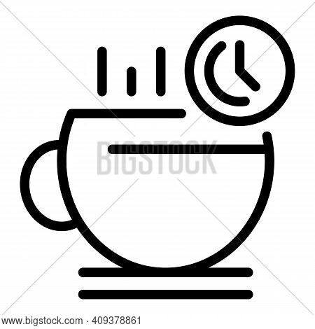 Coffee Break Icon. Outline Coffee Break Vector Icon For Web Design Isolated On White Background