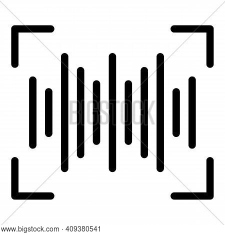 Sound Wave Icon. Outline Sound Wave Vector Icon For Web Design Isolated On White Background