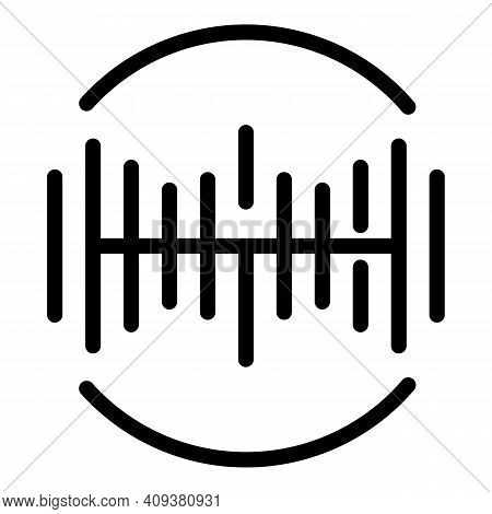 Sound Voice Frequency Icon. Outline Sound Voice Frequency Vector Icon For Web Design Isolated On Whi