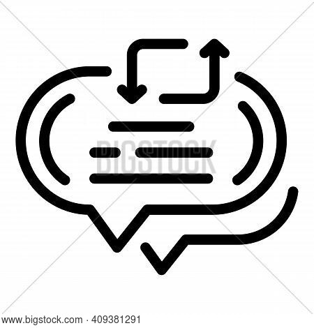 Repost Chat Icon. Outline Repost Chat Vector Icon For Web Design Isolated On White Background